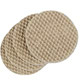 "Dura-Grip Heavy Duty 2"" Round, 3/8"" Thick Non-Slip Rubber (No glue or nails) Furniture Floor Pads, Protectors-Set of 8"