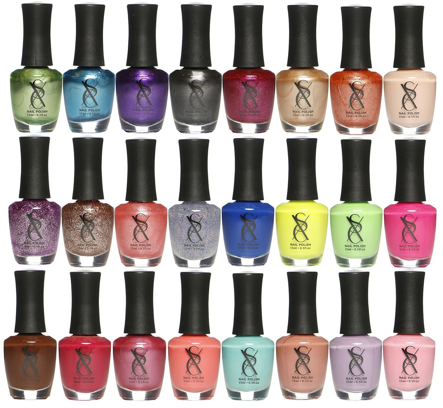 24 Collection Nail Lacquer Nail Polish, Professional Quality Quick Dry, Perfect Gift For Holiday