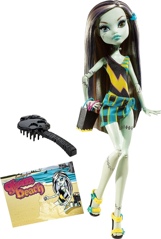 Amazon Com Monster High Gloom Beach Frankie Stein Doll Toys Games