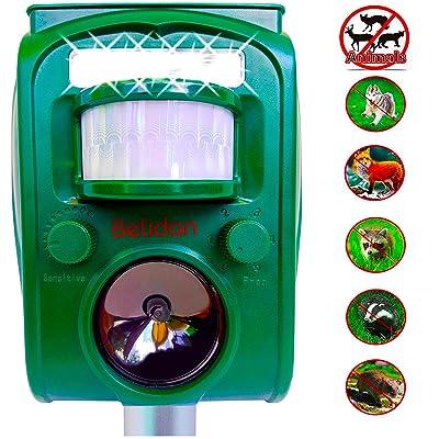 Belidan Animal Repellent Ultrasonic Outdoor Animal Repeller