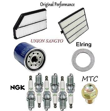 8USAUTO Tune Up Kit Air Cabin Oil Filters Spark Plug FIT Chevrolet HHR L4 2.2L /& 2.4L 2006-2011