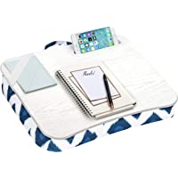LapGear Designer Lap Desk with Phone Holder and Device Ledge - Navy Ikat - Fits up to 15.6 Inch Laptops - Style No…