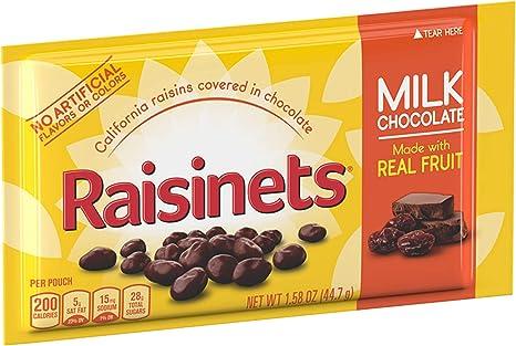 Nestle Raisinets Milk Chocolate, 1.58-Ounce Packages (Pack of 36): Amazon.es: Alimentación y bebidas