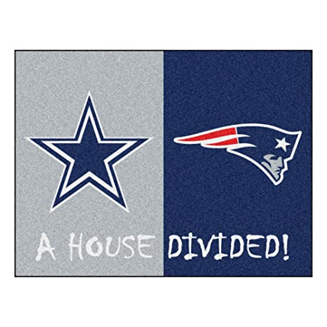 Image Unavailable. Image not available for. Color  NFL House Divided -  Cowboys Patriots Rug ... f7faf54c5
