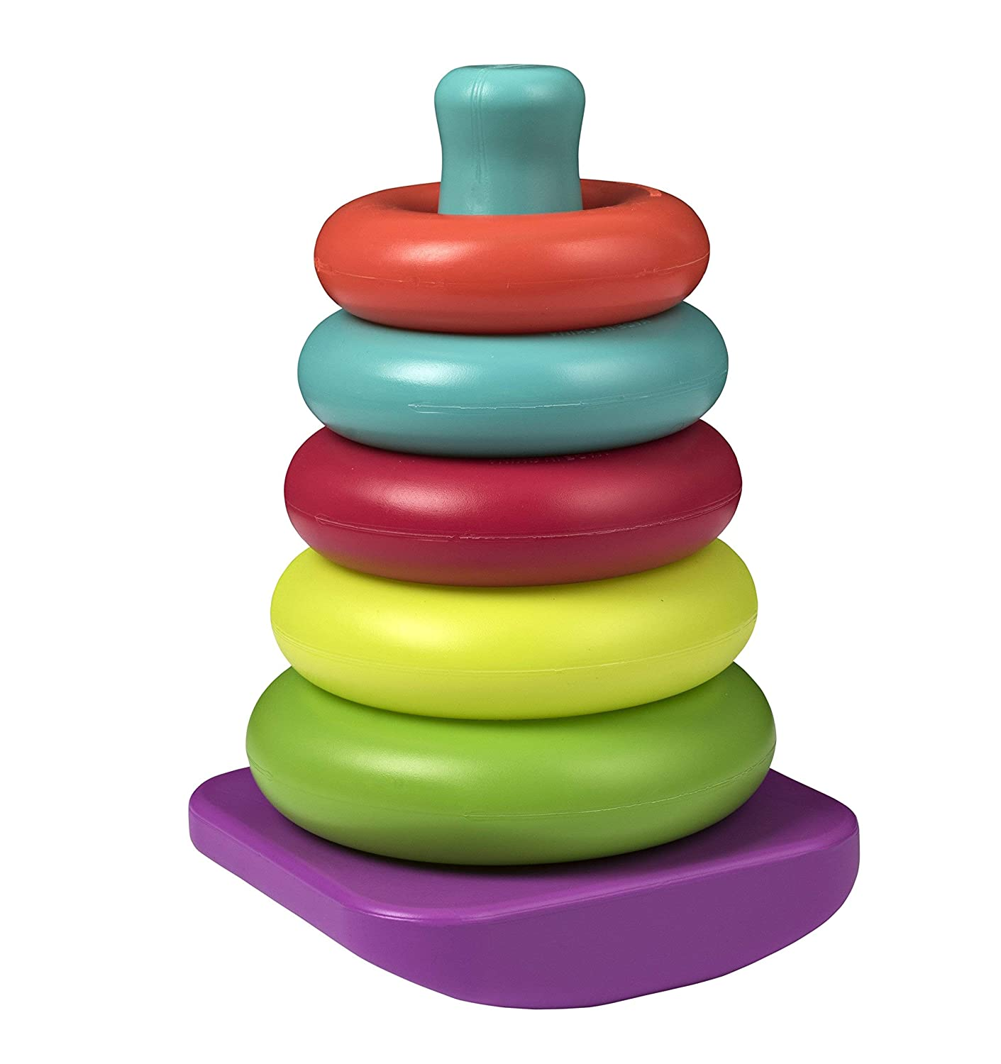 Playkidz Rainbow Stacking Rings Educational Toy and Sensory Stacking Toys for Baby Infant Toddler