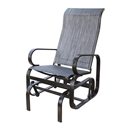 Amazon Com Patiopost Sling Glider Outdoor Patio Chair Textilene