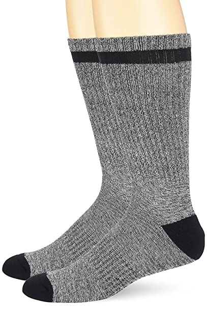caa2bb7d0 Timberland Men's Marled 2-Pack Crew Socks Navy Large at Amazon Men's  Clothing store: