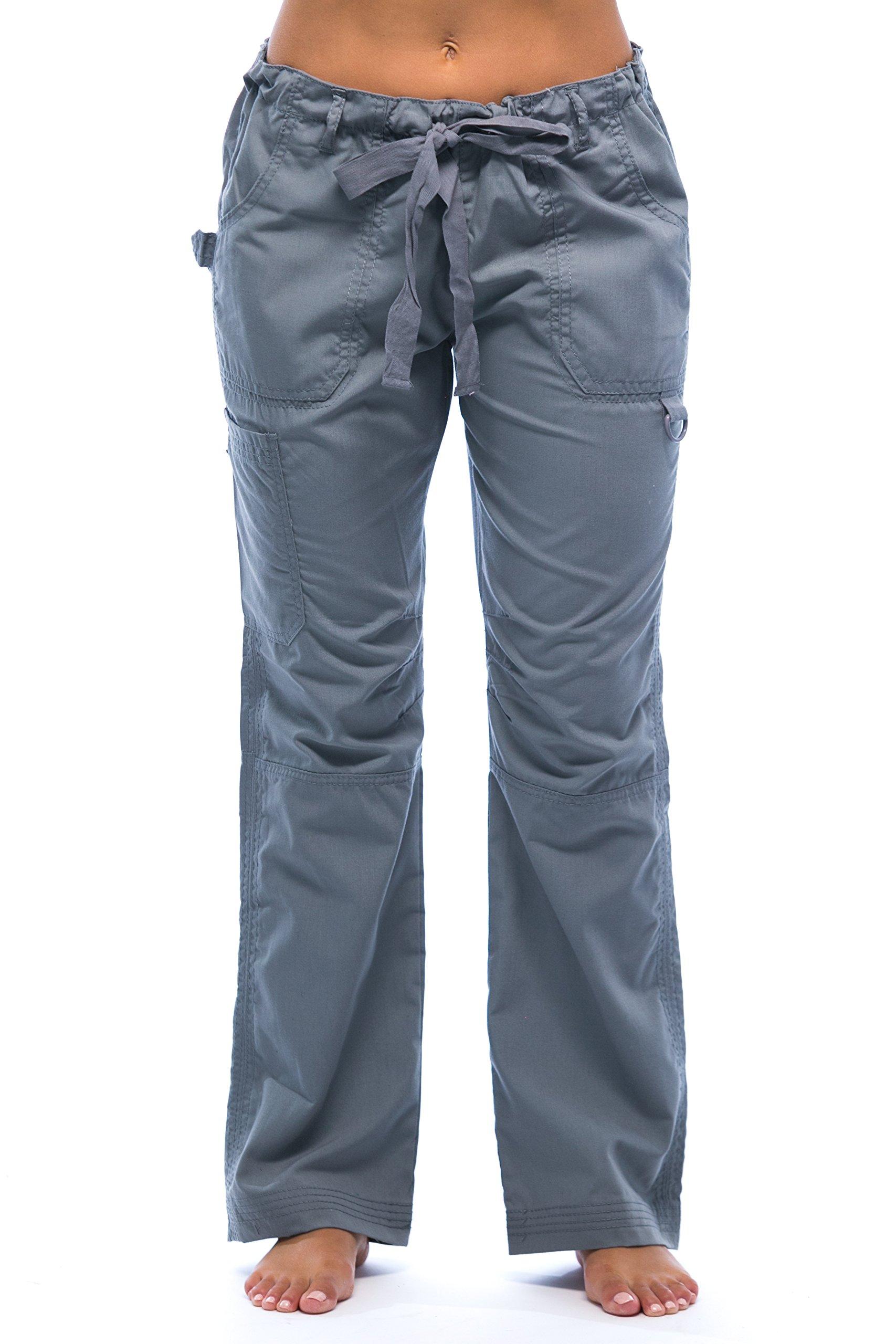 24000PLTGRY-L Just Love Women's Utility Scrub Pants / Scrubs, Light Grey Utility, Large