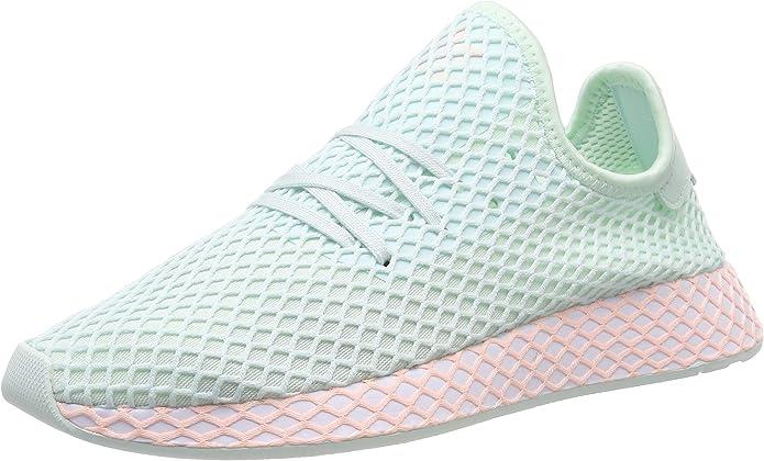 adidas Deerupt Runner Sneakers Fitnessschuhe Damen Herren Unisex Grün (Ice Mint) Größe 37 1/3 bis 38