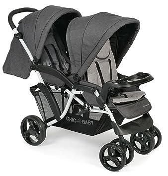 CHIC 4 BABY 273 63 Doppio - Carrito convertible, diseño vaquero, color gris: Amazon.es: Bebé