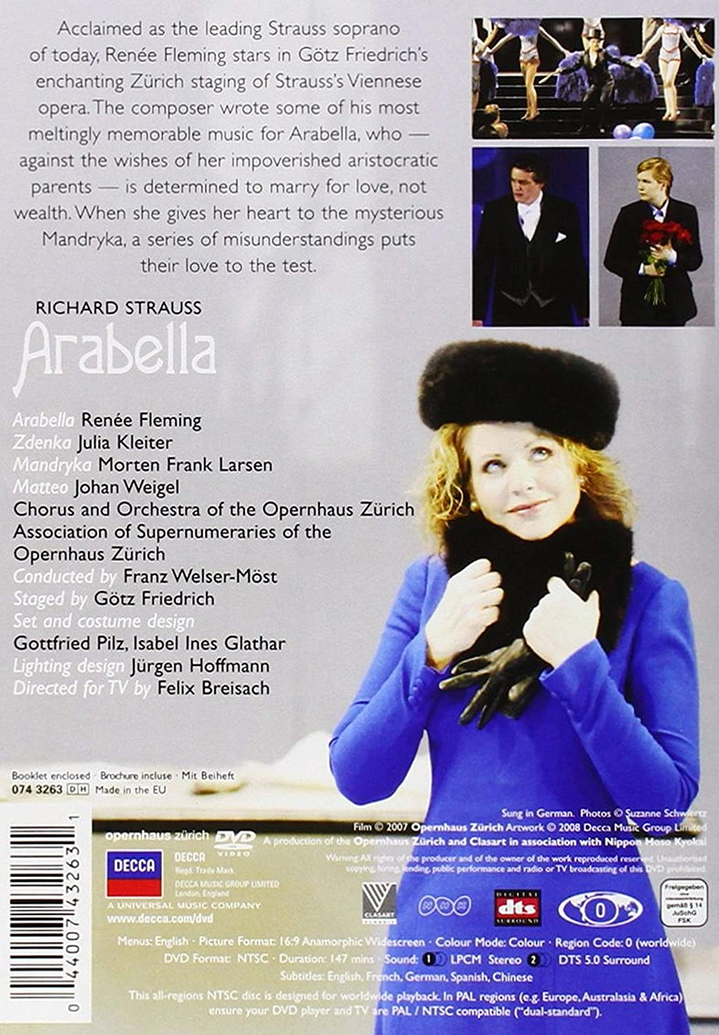 Amazon Com Strauss Arabella Renee Fleming Morten Frank Larsen Julia Kleiter Johan Weigel Zurich Opera House Chorus Orchestra Franz Welser Moest Conductor Gotz Friedrich Movies Tv