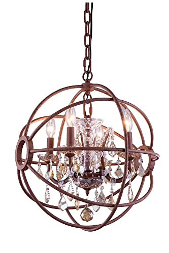 Amazon.com: Elegant Lighting 1130D17RI-GT/RC Geneva ...