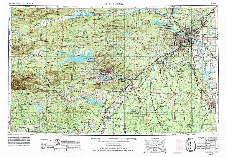Amazon.com : YellowMaps Little Rock AR topo map, 1:250000 Scale, 1 X ...
