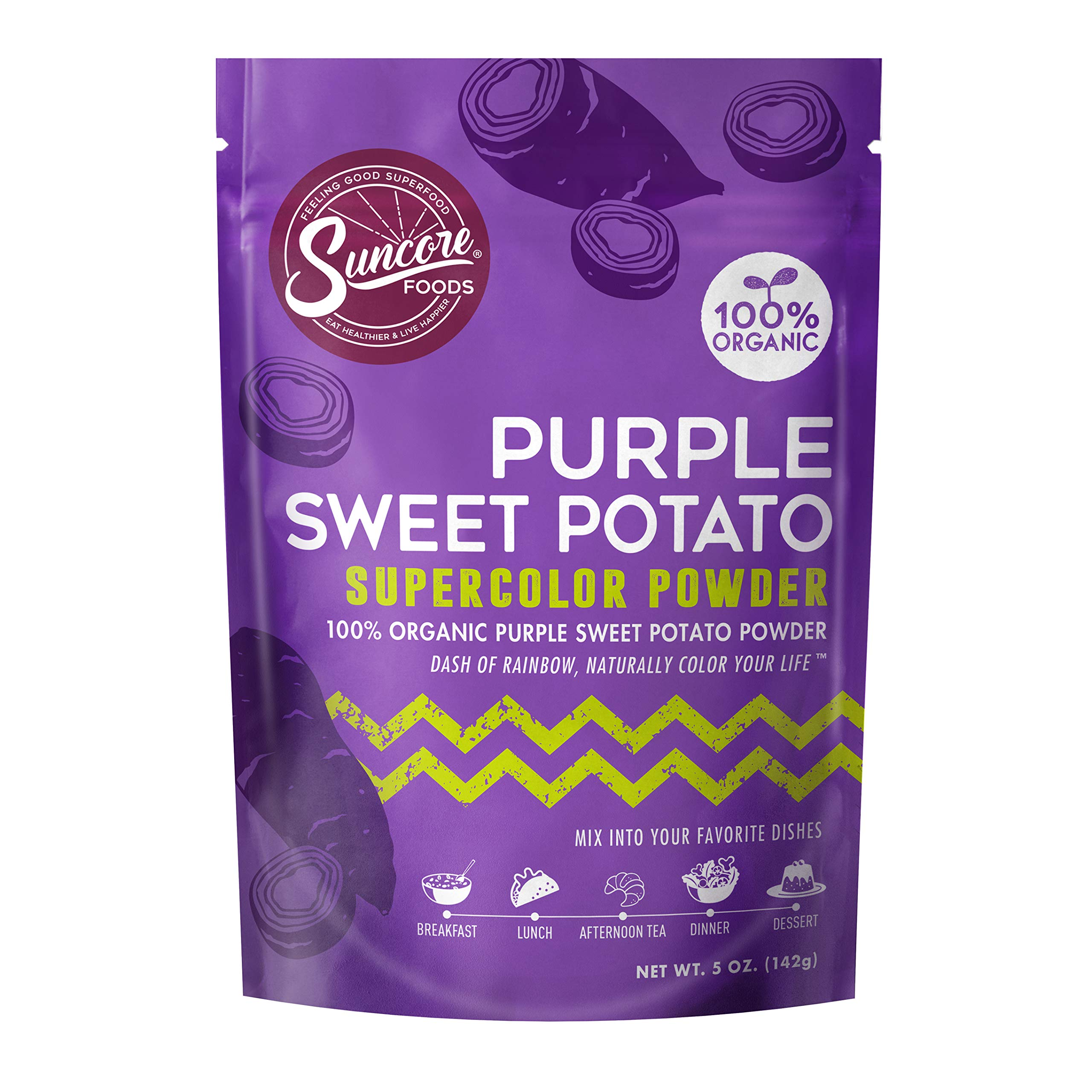 Suncore Foods - 100% Organic Purple Sweet Potato Natural Supercolor Powder, 5oz by Suncore Foods