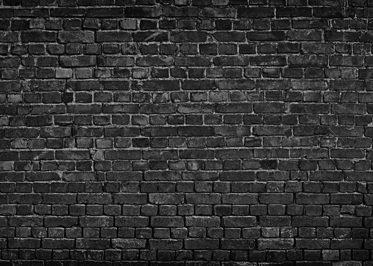 AIIKES 7x5FT Black Brick Wall Photography Backdrop Vintage Theme Stone Brick Design Photography Background Baby Birthday Party Decoration Photo Booth Studio Prop 11-501