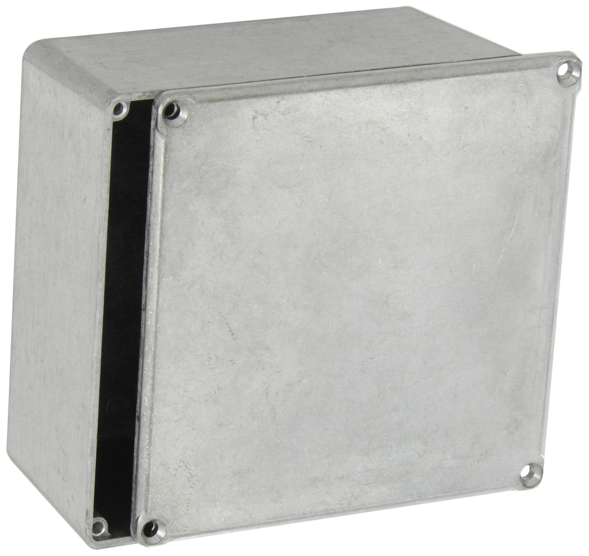 BUD Industries CU-474 Aluminum Econobox, 4-3/4'' Length x 4-3/4'' Width x 2-21/64'' Height, Natural Finish