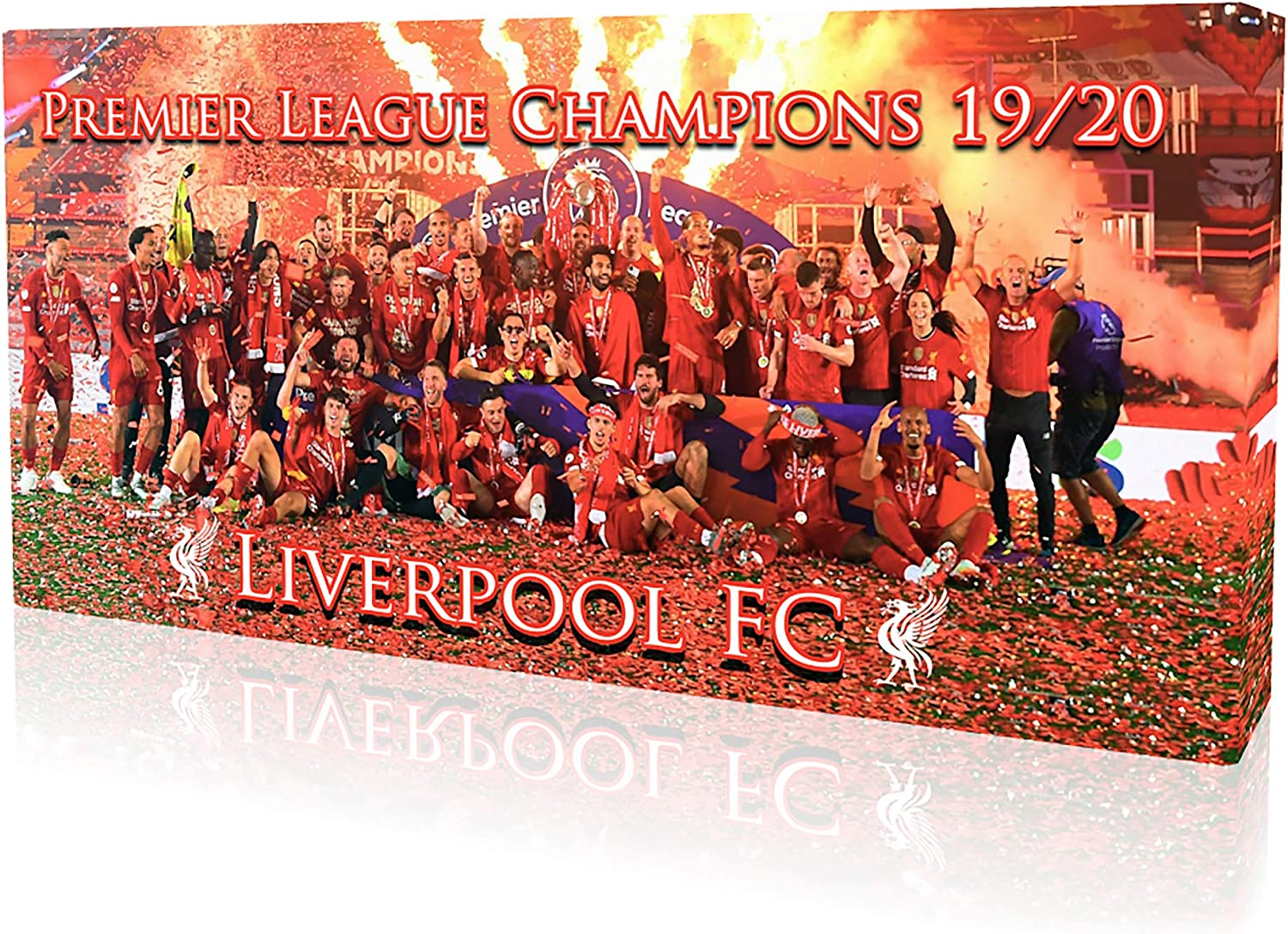 Liverpool fc Premier League Champions Framed Canvas Print 30x14 inches