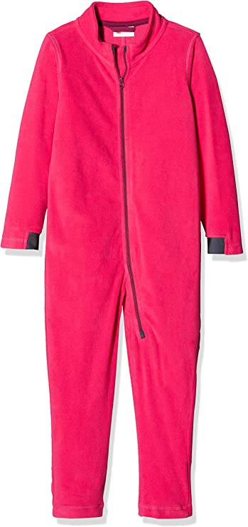 LEGO Wear Kids & Baby Coverall Fleece Underwear with Chin Guard protector and Reflective Detail, Dark Pink, 12-18 M