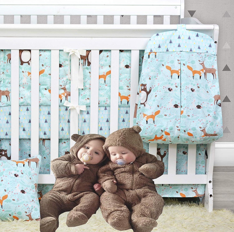 100/% Cotton Brandream Baby Girl Diaper Stacker Pink Butterfly Hanging Crib Nursery Diaper Stacker