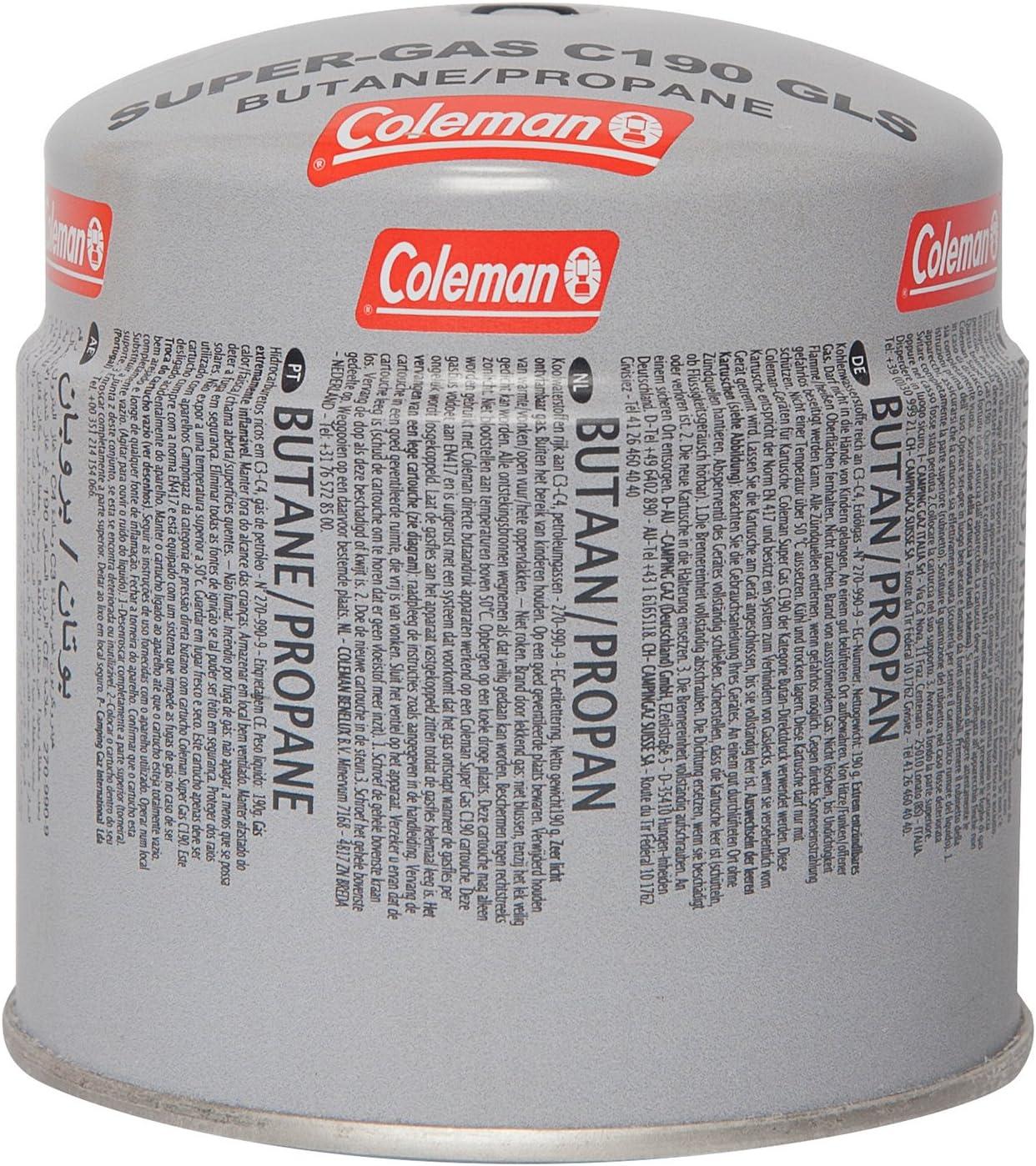 Coleman Cartucho de gas C190 GLS para hornillo de camping ...