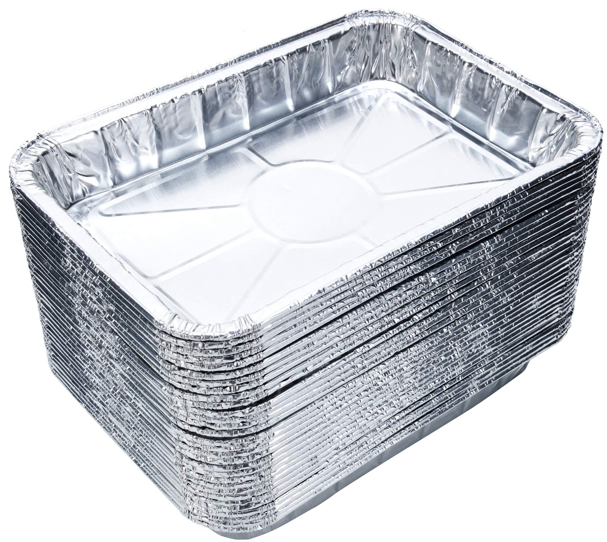 DOBI (30-Pack) Weber Grills Compatible Drip Pans, Bulk Package, Aluminum Foil BBQ Grease Pans, 7.5'' x 5'' by DOBI
