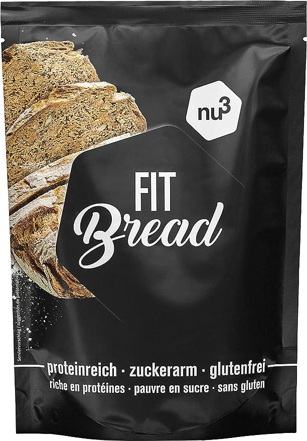 nu3 Fit Bread | 230g de harina para pan integral con proteína | 15 veces menos carbohidratos | Bajo en azúcar, grasa y sin gluten | Alto contenido de fibra ...