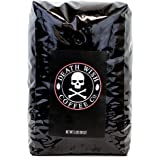 Death Wish Roasted Whole Bean Coffee, The World's Strongest Coffee, Fair Trade and Organic, 5 Lb Bag