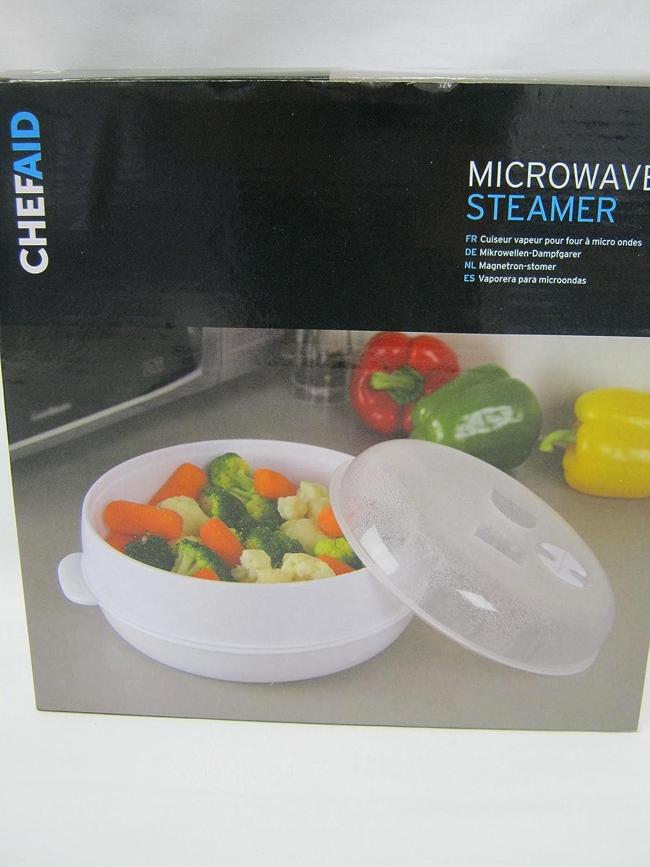 Chef Aid Vaporera de microondas, color blanco: Amazon.es: Hogar