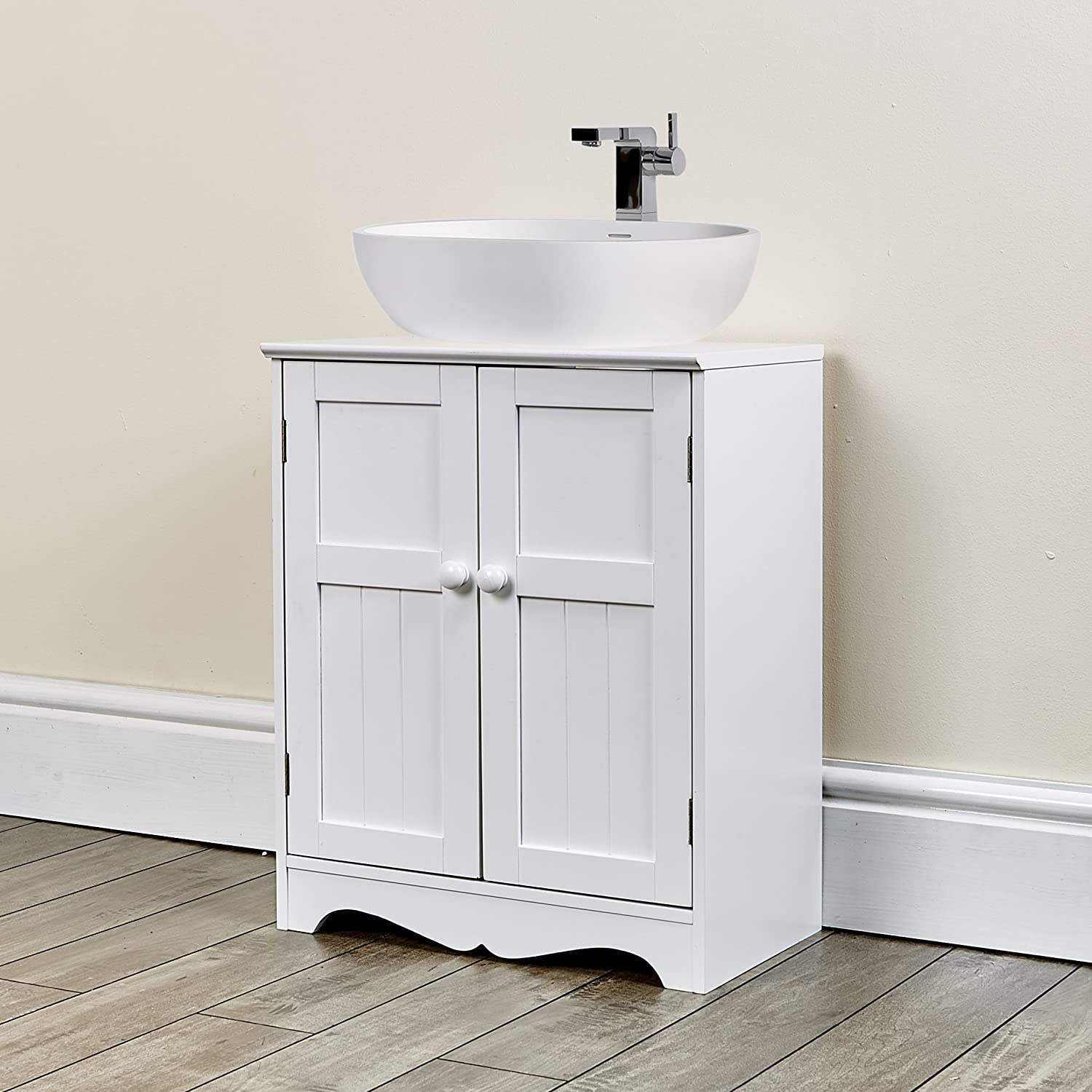 Abreo New White Under Sink Cupboard Bathroom Furniture Storage ...