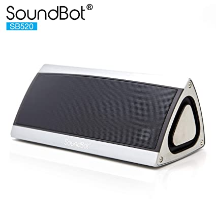 SoundBot SB520 3D HD Bluetooth 4 0 Wireless Speaker for 15 hrs Music  Streaming & Hands-Free Calling w/ Passive sub woofer, 5W + 5W 50mm Driver