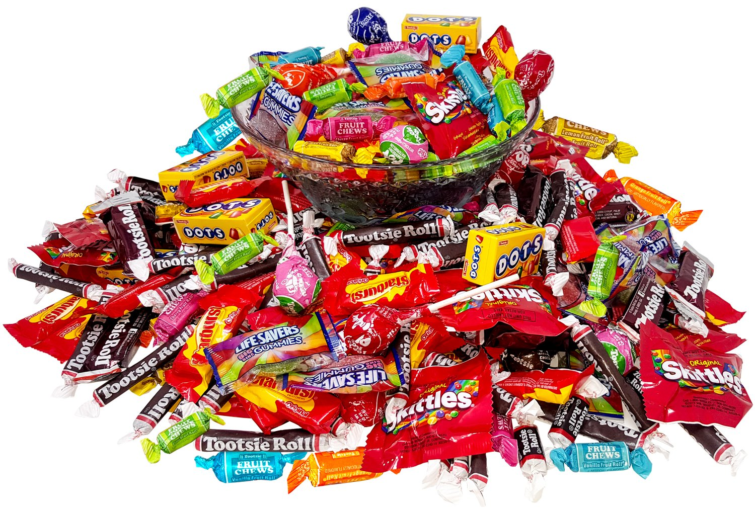 Assorted American Candy Classics Over 13 Favorite Flavors 11 Lb Variety Bulk Value Pack Skittles Tootsies Starburst Lifesavers Gummies And More (176 oz) by Assortit (Image #5)