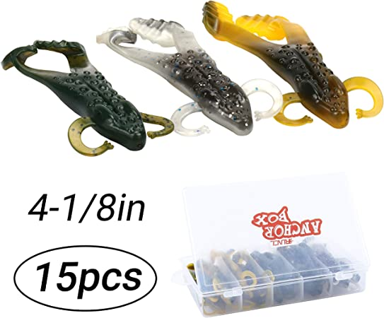 50pcs Fishing Soft Lure Worms Drop Shot Creatures Soft Plastic Bass Bait Split