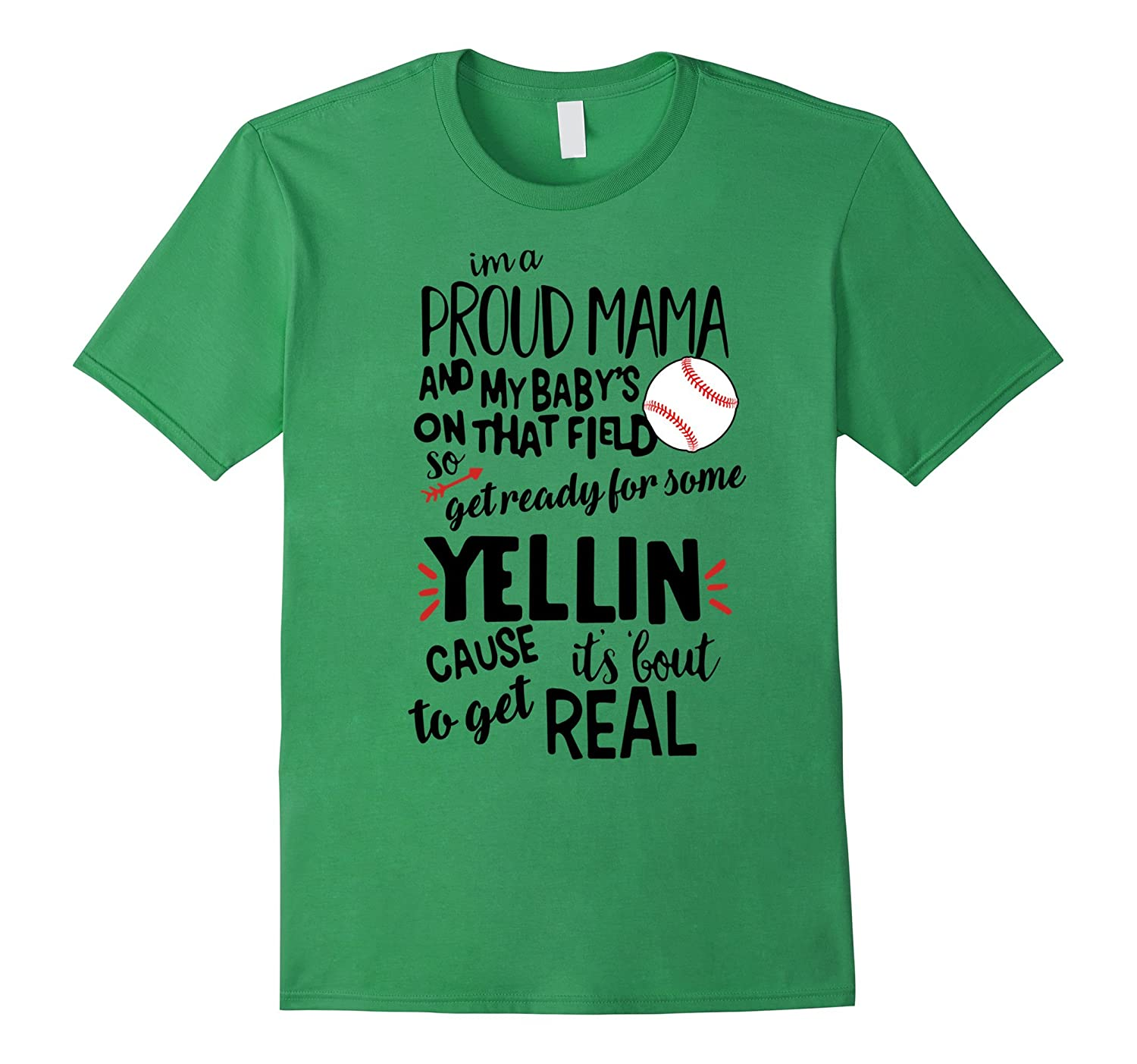 Baseball I'm A Proud Mama T-shirt