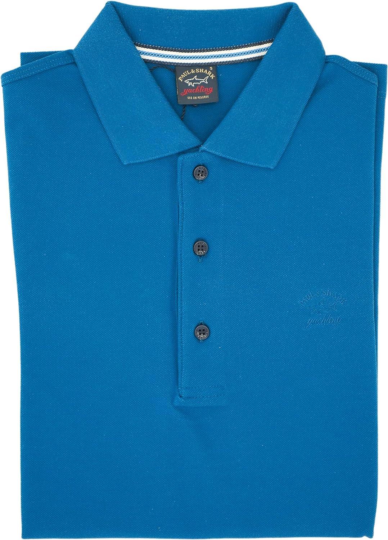 PAUL & SHARK Polo, Informal, Regular, algodón Turquesa S: Amazon ...