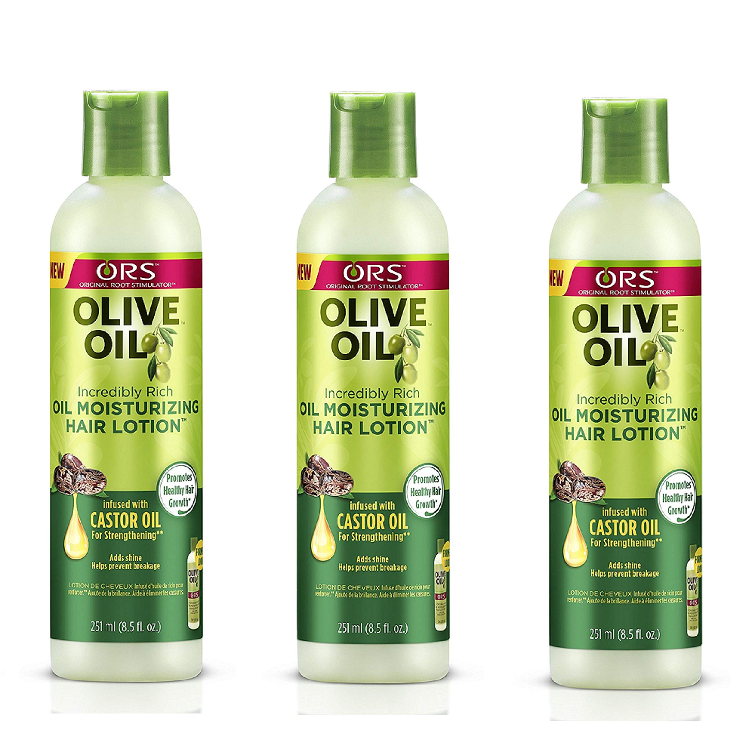 ORS Olive Oil Moisturizing Hair Lotion, 8.5 Oz (Pack of 3) by ORS