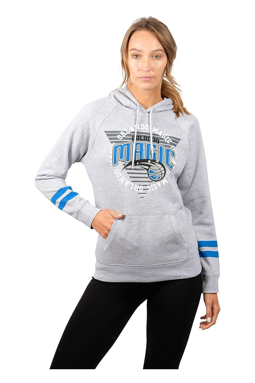 (Orlando Magic, Large) - UNK NBA Women's Fleece Hoodie Pullover Sweatshirt Varsity Stripe, Grey   B076NZ16FN