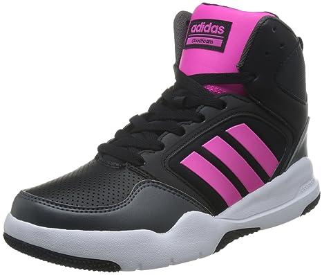 Adidas Cloudfoam Rewind Mid W - Zapatillas Baloncesto para Mujer, Negro - (Negbas/