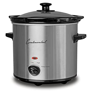 Continental Electric CP43729 Slow Cooker One Size Silver