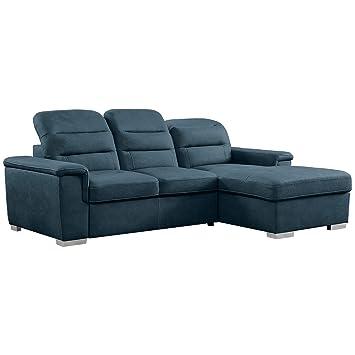 Homelegance 9808 Sleeper Sectional Sofa with Storage, Blue