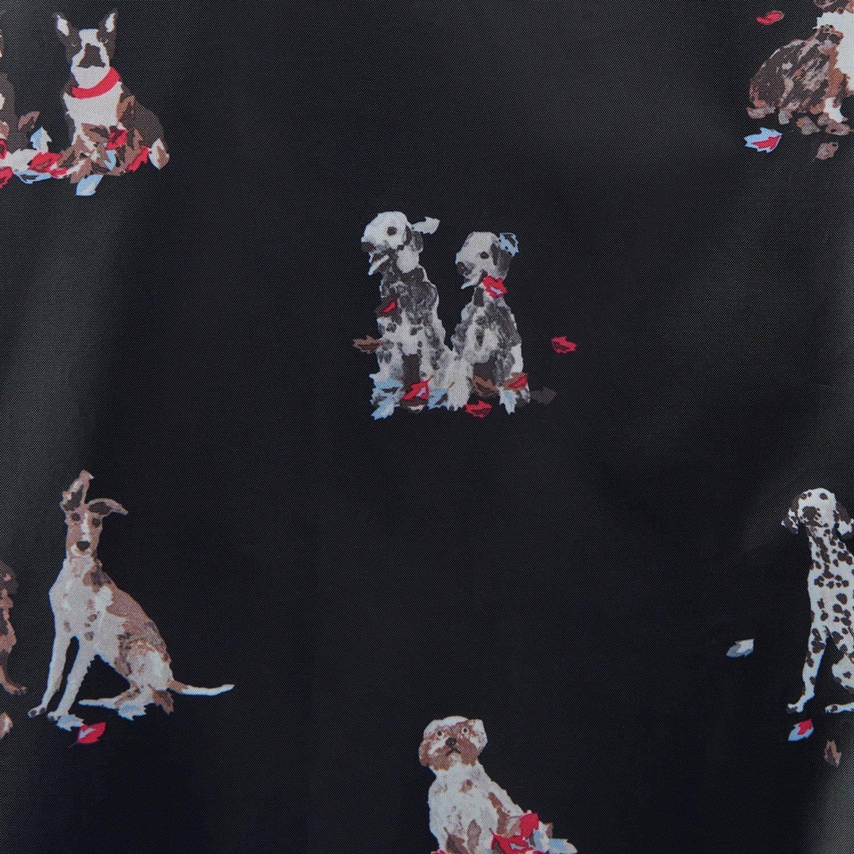 Joules Golightly Printed Waterproof Womens Packaway Coat (Z) Dogs in Leaves Print UK12 EU40 US8 by Joules (Image #3)