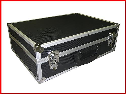 Black Aluminum Multi purpose Case With Foam For Tool Camera Hardware and More