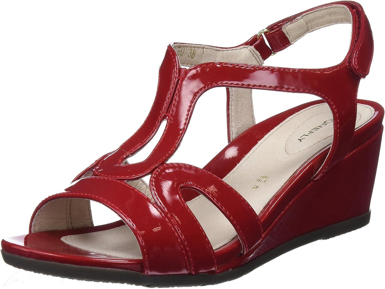 Stonefly Sweet III 8 Patent, Zapatos con Tacon y Correa de Tobillo para Mujer