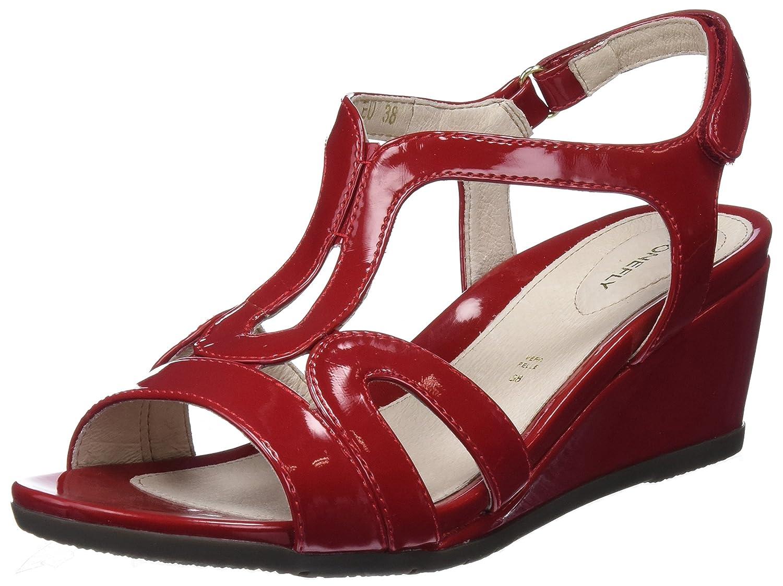 TALLA 36 EU. Stonefly Sweet III 8 Patent, Zapatos con Tacon y Correa de Tobillo para Mujer