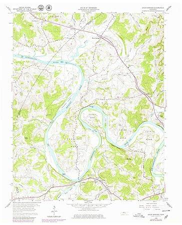 Dixon Tennessee Map.Amazon Com Yellowmaps Dixon Springs Tn Topo Map 1 24000 Scale
