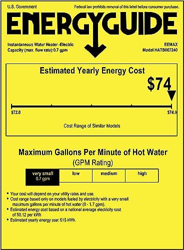 Eemax HATB007240 Tank Water Heater Booster 7.2 kW 240V