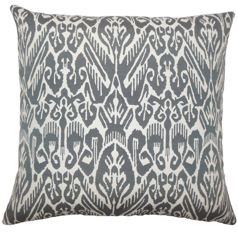 The Pillow Collection Jyotika Ikat Bedding Sham Ash Queen/20' x 30'