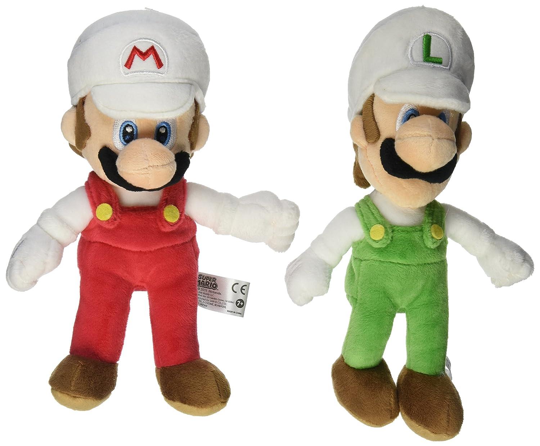 Little Buddy Nintendo Mario Plush Doll Set of 2 - Fire Mario & Fire Luigi