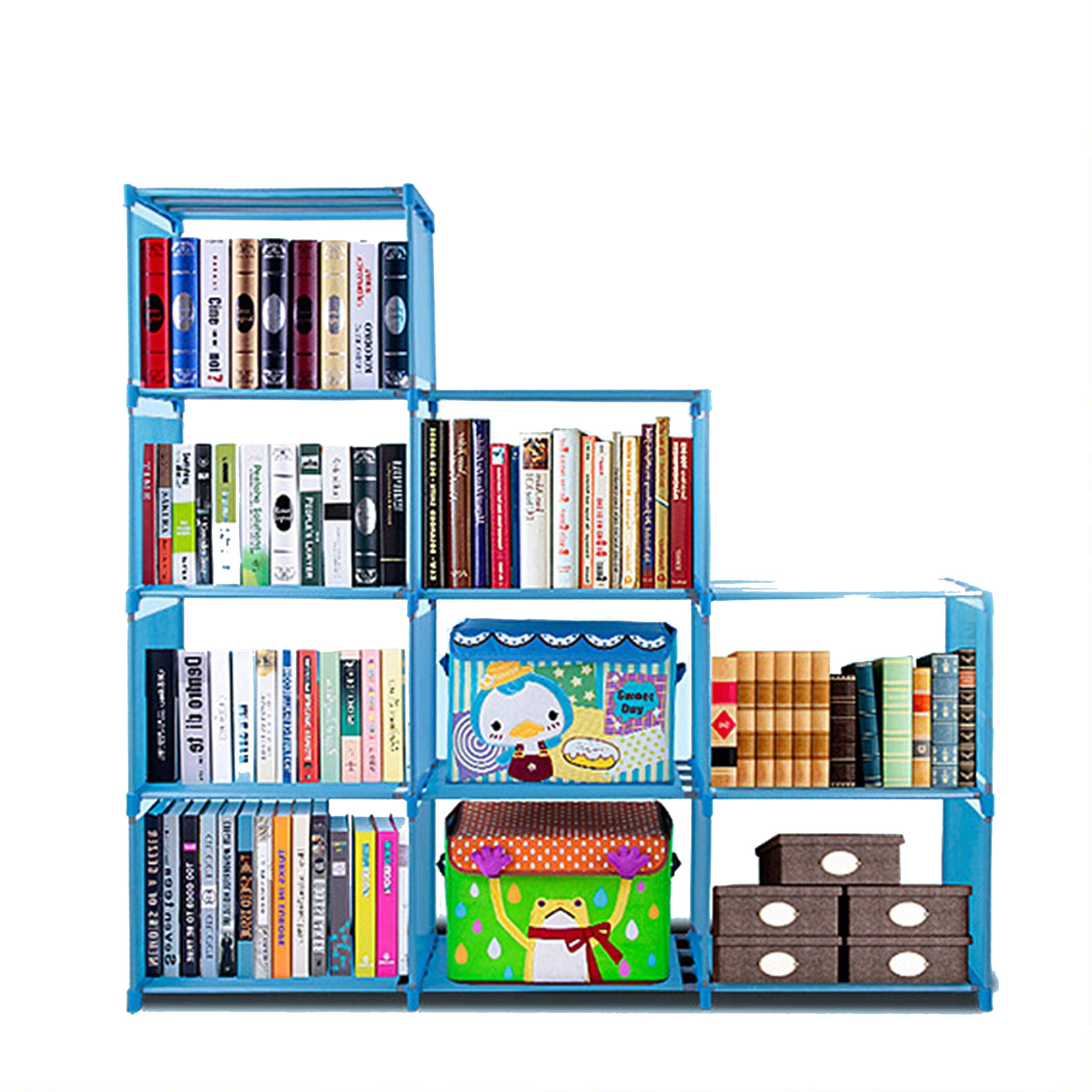 Goodfans Adjustable Multifunction Home Furniture Bookcase Storage DIY Book Shelves with 9 Shelves, Home Furniture Storage