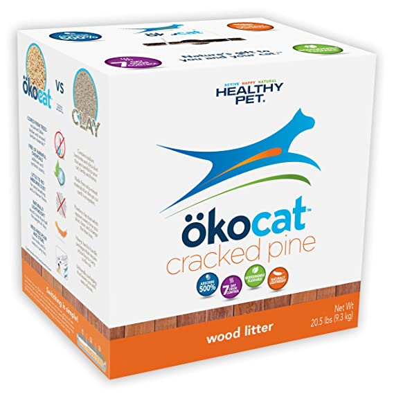 Amazon.com: Ookocat - Arenero de pino natural para gatos, L ...
