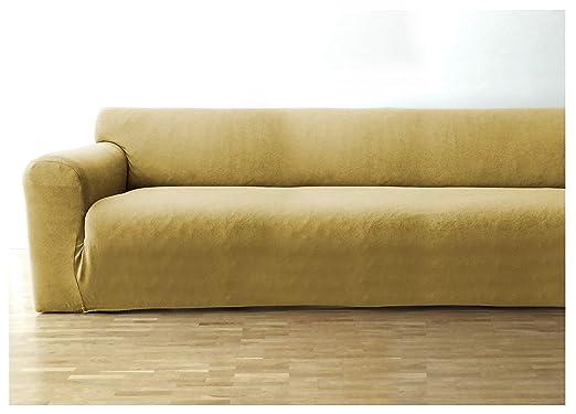 Bellboni Funda de sofá, Forro de sofá, Funda Ajustable bielástica, Apta para Muchos sofás Normales de 3 plazas, Crema